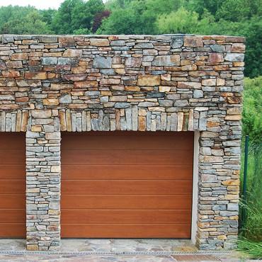 Ausführung der Steinfassade - Color Rustic
