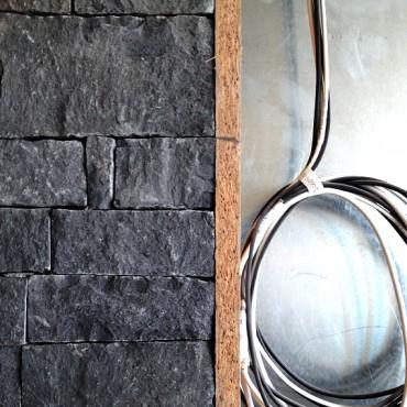 Steinverkleidung Ecke - Dark Gray