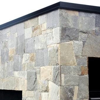 Naturstein Fassade - Royal Silver