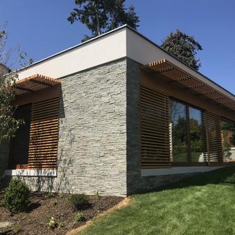 Ausführung einer Fassade aus Naturstein - Silver Harmony