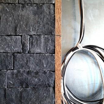 Steinverkleidung Ecke - Dark Grey